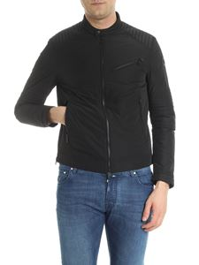 Moncler - Black Gimont down jacket with quilted inserts