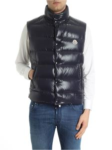 Moncler - Dark blue Tib sleeveless down jacket