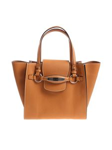 Ermanno Scervino - Tan colored leather medium tote bag