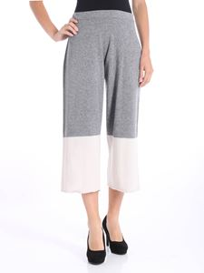 Liviana Conti - Gray and white crop trousers
