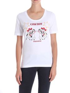 Dsquared2 - White cowboy printed t-shirt