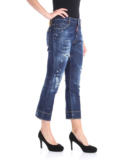 Dsquared2 - Blue Kick jeans with worn-out effect