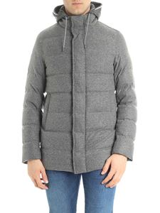 Herno - Grey melange virgin wool down jacket