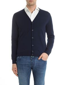 Moncler - Dark blue virgin wool cardigan