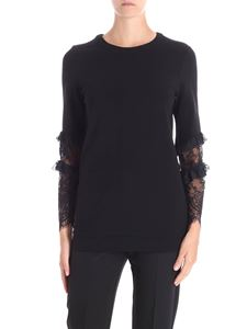 Trussardi Jeans - Black Milano shirt with lace sleeves