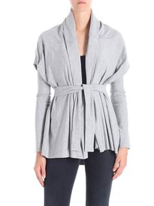 Liviana Conti - Gray cardigan with removable sleeves
