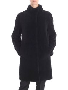 DROMe - Reversible black sheep leather coat