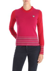 Kenzo - Fuchsia and red pullover with Tiger logo