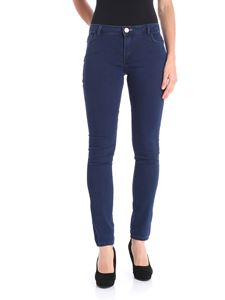 Trussardi Jeans - Blue jeans with pink stitching