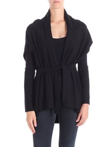 Liviana Conti - Black cardigan with removable sleeves