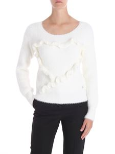 Trussardi Jeans - White pullover with ruffles