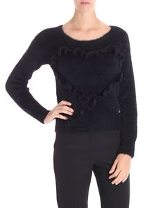Trussardi Jeans - Black pullover with ruffles