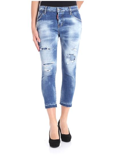 Dsquared2 - Light-blue Cool Girl jeans with vintage effect