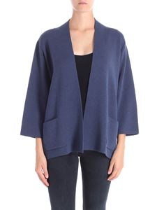 Trussardi Jeans - Blue cardigan with patch pockets
