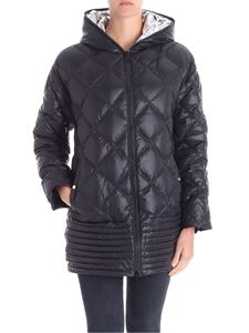 Iceberg - Black down jacket with vents on the bottom