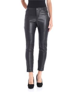 MY TWIN Twinset - Black eco-leather leggings