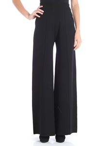 Liviana Conti - Black palazzo trousers with veins