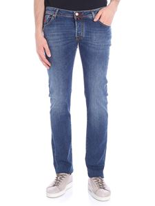 Jacob Cohën - Blue 5-pocket jeans with red stitching