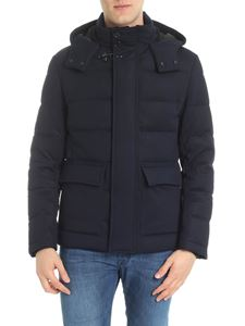 Fay - Dark blue quilted down jacket