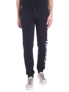 Iceberg - Black trousers with cotton logo print