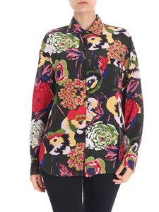 Aspesi - Green floral printed shirt