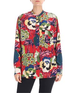 Aspesi - Red floral printed shirt