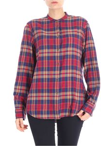 Aspesi - Red and blue tartan cotton shirt