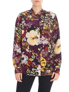 Aspesi - Purple floral printed shirt