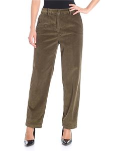 Aspesi - Army green corduroy trousers