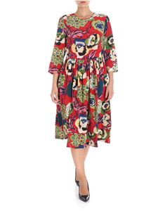 Aspesi - Red midi floral printed dress