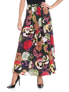 Aspesi - Green pleated floral printed skirt