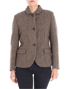 Aspesi - Two-buttons jacket in shades of brown