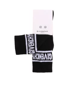 Givenchy - Black socks with white logo embroidery