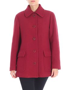 Aspesi - Burgundy wool coat