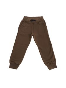 Hydrogen - Army green pants with black logo print