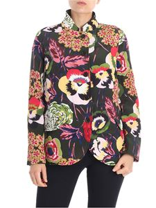 Aspesi - Green floral printed jacket