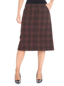 Aspesi - Brown checked skirt