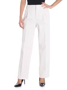 Aspesi - Ivory trousers with pleats