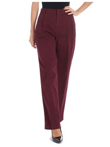 Aspesi - Burgundy trousers with pleats