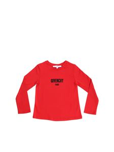 Givenchy - Red t-shirt with black logo print