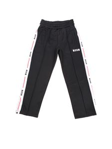 MSGM - Black trousers with branded details