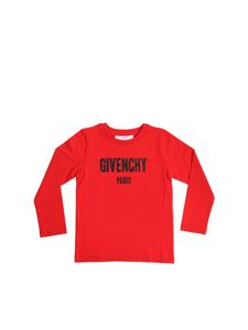 Givenchy - Red printed long-sleeved T-shirt
