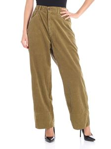 Sofie D'Hoore - Olive green corduroy overfit trousers