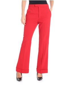 Maison Margiela - Red boot cut trousers