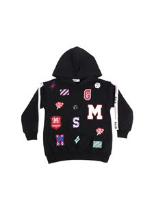 MSGM - Black sweatshirt with multicolor patches