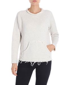 MOTHER - Light gray vintage effect sweatshirt