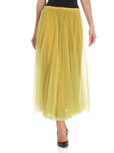 Red Valentino - Green tulle skirt with two layers