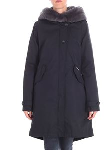 Woolrich - Black parka with gray fur insert