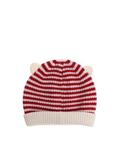 3bd8e54dc26 Moncler Jr Fall Winter 18 19 red and white striped beanie - 9920905 ...