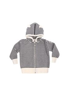 Moncler Jr - Knitted white and gray cardigan